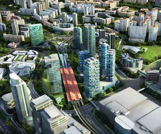 Aerial view of Jurong Gateway