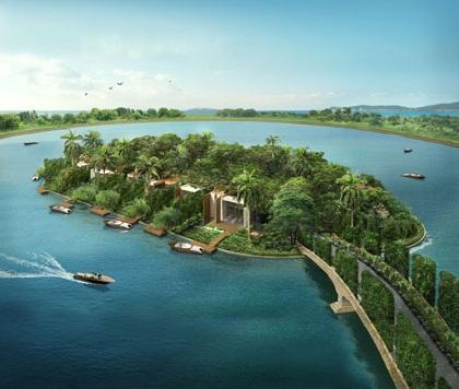 马来西亚杨忠礼集团发展的丽沙岛18栋濒水洋房。