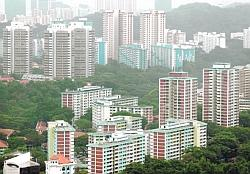 Just 25% of resident households lived in HDB three-room or smaller flats in 2010, down from 31% n 2000. Four-room flats remained the most common housing type for resident households in 2010 at 32%