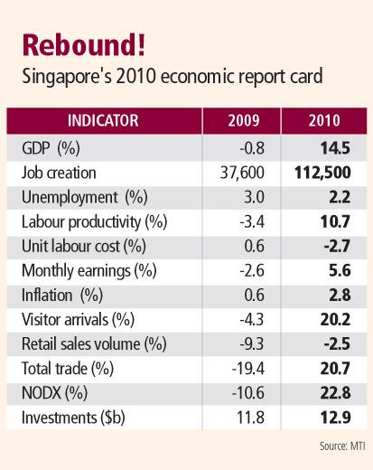 Singapore's 2010 Report Card