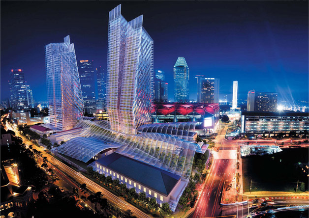 ICONIC: The South Beach project - located between Raffles Hotel and Suntec City and next to the Esplanade MRT Station - will be completed in 2015