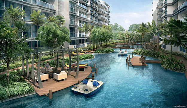 Waterfront living: The average price at the 501-unit Hedges Park is $850 psf; prices start from $466,000 for a one-bedder of 484 sq ft