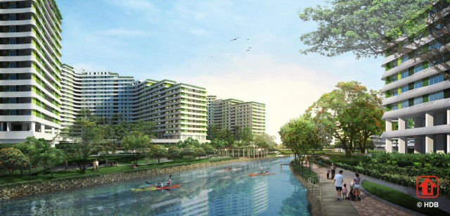 On the way: Waterway Terraces II in Punggol will have 804 flats and a five-roomer costs up to $484,000. Like Anchorvale Cove in Sengkang, it is a premium BTO project