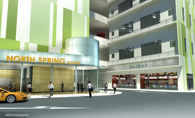 North Spring BizHub: About a third of the 454 units in the seven-storey development were sold or committed by the end of yesterday, BT understands. The affordable lumpsum deal size was a key reason for strong demand.